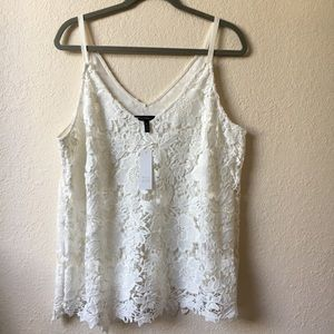 NWT, XL White House Black Market SL Lace Cami